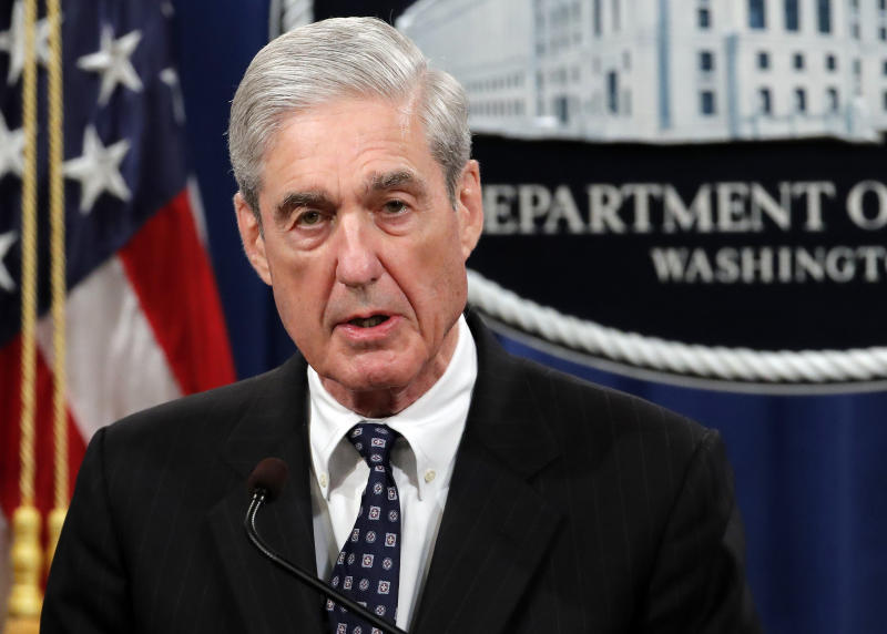 Special Counsel Robert Mueller speaks at the Department of Justice in Washington on May 29, 2019. (Photo: Carolyn Kaster/AP)