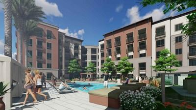 Luxury amenities at Clarendon Woodland Hills include a resort-style swimming pool and spa.