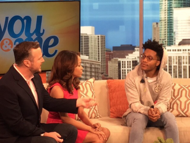 <p>Talking about donuts on a couch. I look so hungry in this photo because I am. — @jermainefowler #superiordonuts<br> (Photo: YahooTV via Instagram) </p>