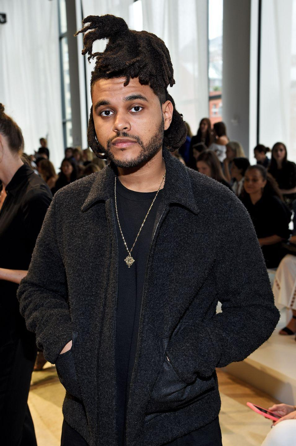 <p>The singer styled his tied up pieces so that they jutted out in all different directions at New York Fashion Week in 2015. </p>