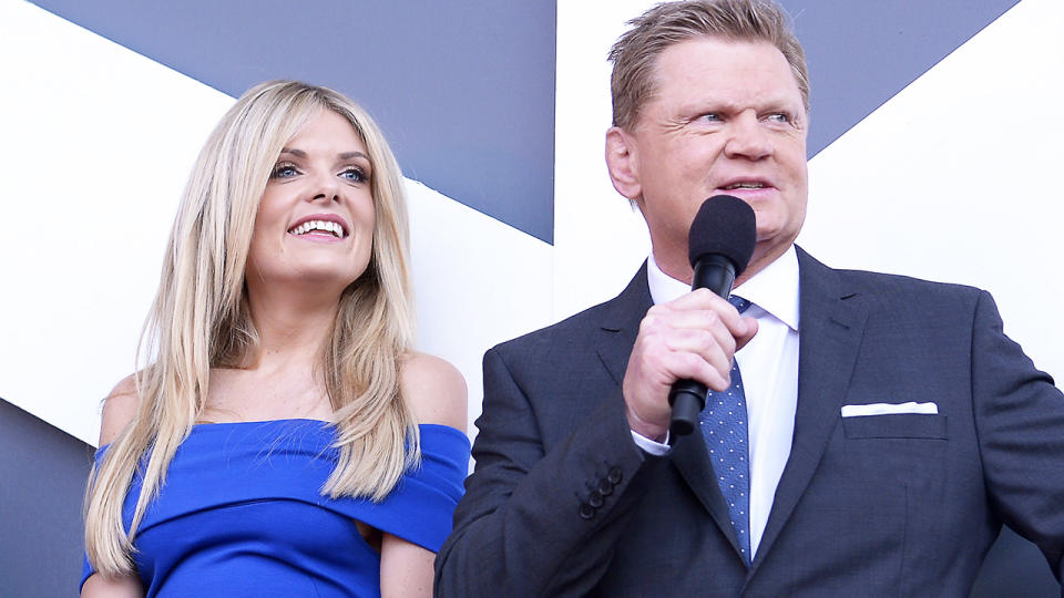 Erin Molan and Paul Vautin, pictured here in Sydney in 2015.