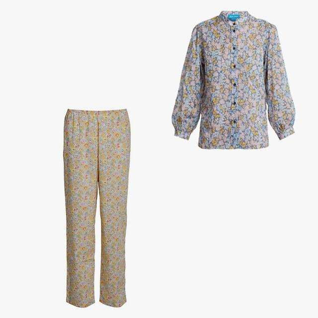 M.I.H. Jeans Lilli treelove-print cotton shirt, $178, matchesfashion.com; Milsted Camilla pants, $327, hollygolightly.dk