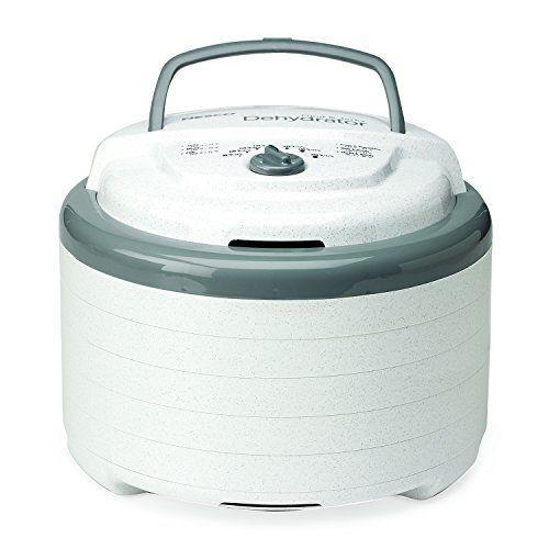 """<p><strong>Nesco</strong></p><p>amazon.com</p><p><strong>$79.99</strong></p><p><a href=""""https://www.amazon.com/dp/B0090WOCN0?tag=syn-yahoo-20&ascsubtag=%5Bartid%7C1782.g.32823716%5Bsrc%7Cyahoo-us"""" rel=""""nofollow noopener"""" target=""""_blank"""" data-ylk=""""slk:BUY NOW"""" class=""""link rapid-noclick-resp"""">BUY NOW</a></p><p>New to DIY dehydration? With adjustable temperature controls and a time limit that stretches up to 48 hours, this dehydrator is nothing if not beginner-friendly.</p>"""
