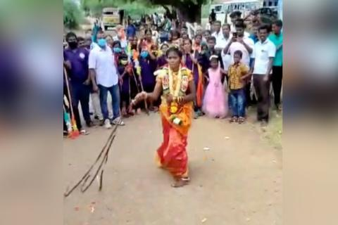 Watch: This TN bride went from marital to martial in minutes