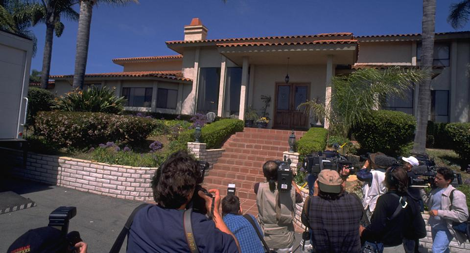 House with reporters camped out front. Source: Getty Images