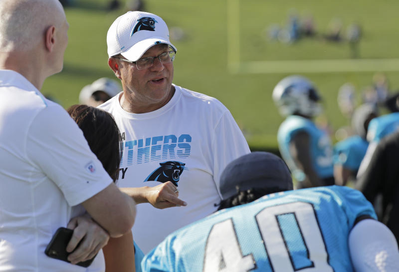 Carolina Panthers owner David Tepper wants to have a retractable-dome stadium within the next decade. (AP)