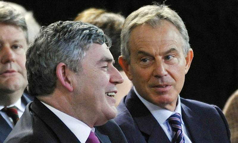 'Gordon Brown (left), chancellor under Tony Blair (right), needed to find a way of building new schools and hospitals promised in opposition.'