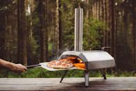 """<p>This powerful and portable wood and charcoal-fired pizza oven, heats up to temperatures of 500°C in 15 minutes so you can cook delicious, Neapolitan-style pizzas in just 60 seconds.</p><p><a class=""""link rapid-noclick-resp"""" href=""""https://www.lakeland.co.uk/62647/Ooni-Karu-12-Multi-Fuel-Pizza-Oven"""" rel=""""nofollow noopener"""" target=""""_blank"""" data-ylk=""""slk:BUY NOW"""">BUY NOW</a> <strong>£299</strong></p>"""