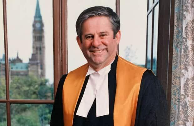 Jack O'Keefe was a justice of the Ottawa-based Federal Court of Canada for 16 years before he retired in 2015.  (Hennessey Cutcliffe Charlottetown Funeral Home - image credit)