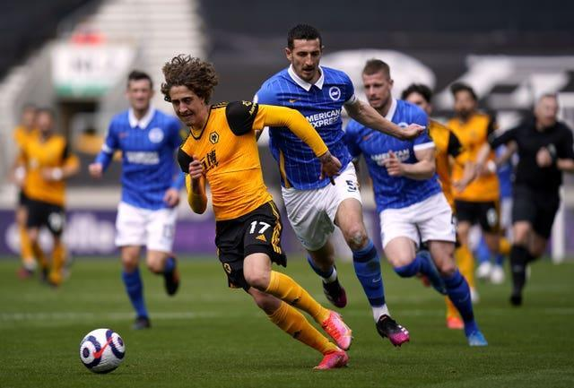 Lewis Dunk pulled back Fabio Silva and was sent off
