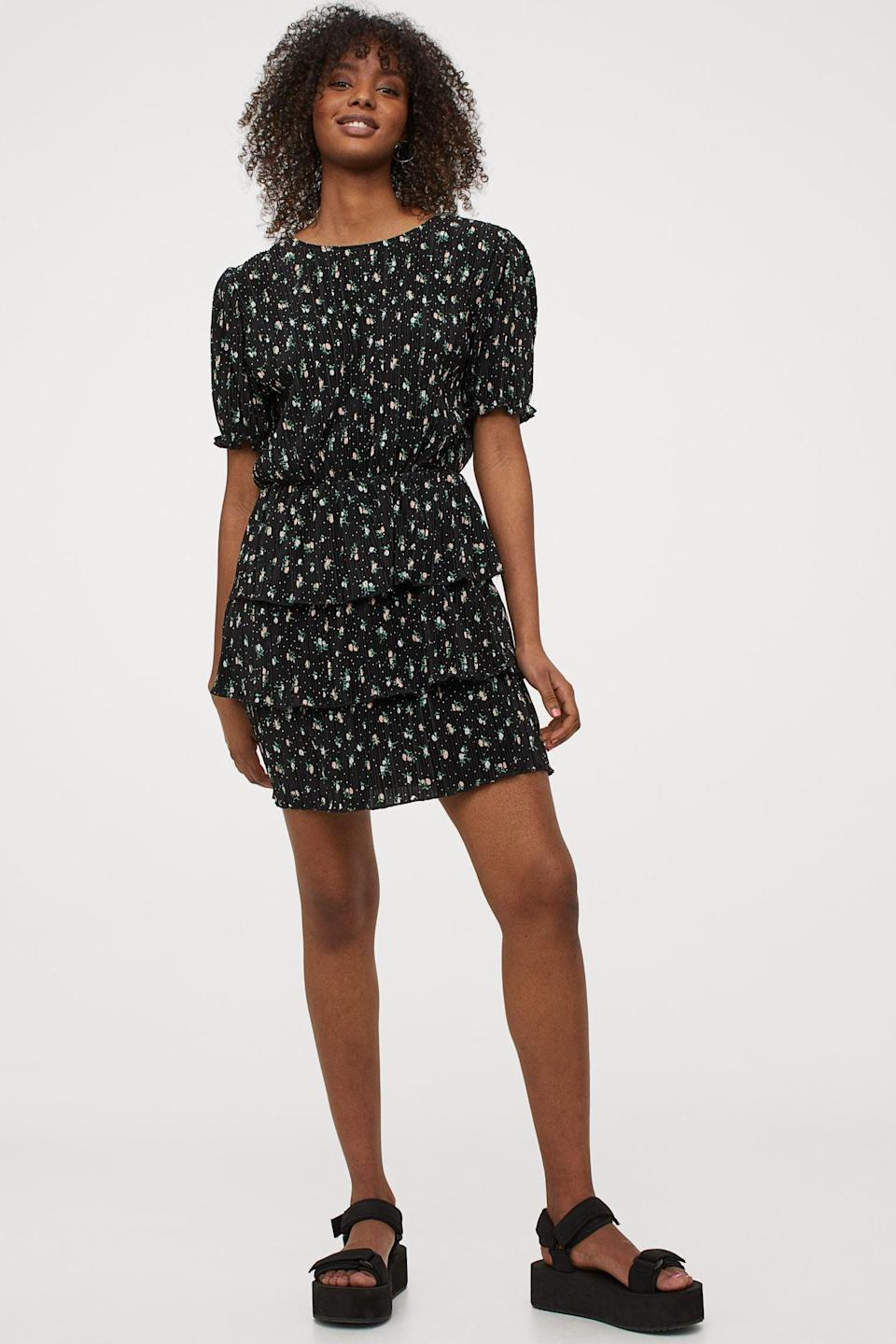 <p>This <span>H&amp;M Pleated Dress</span> ($30) will show off your legs in a tasteful way.</p>