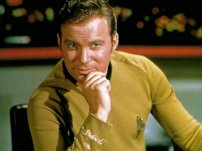Shatner as James T. Kirk (Credit: CBS)