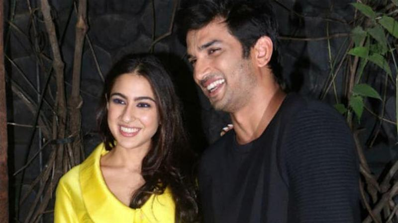 Sara Ali Khan and Sushant Singh Rajput. (Photo Credits: Twitter)