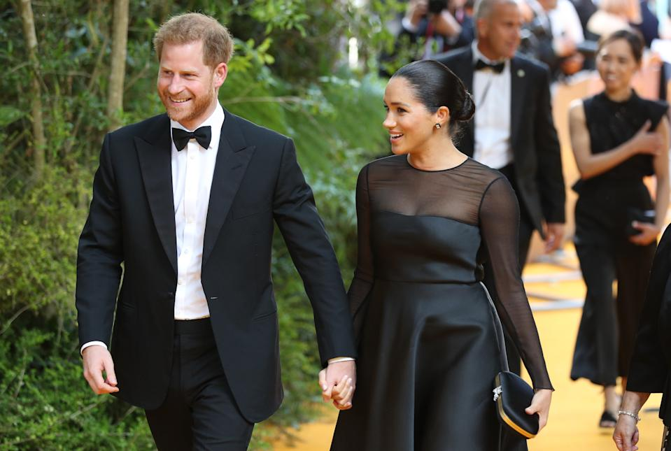 The royal parents enjoyed a night off at the UK premiere of 'The Lion King [Photo: Getty]