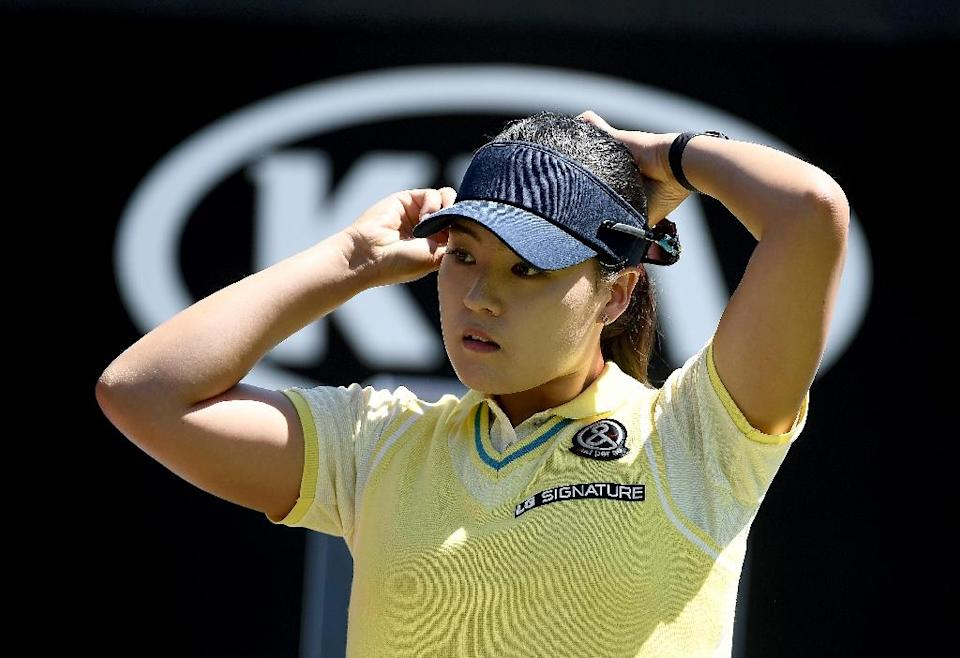 Chun In-Gee of South Korea prepares to tee off during the KIA Classic, at the Park Hyatt Aviara Resort in Carlsbad, California, on March 25, 2017 (AFP Photo/Donald Miralle)