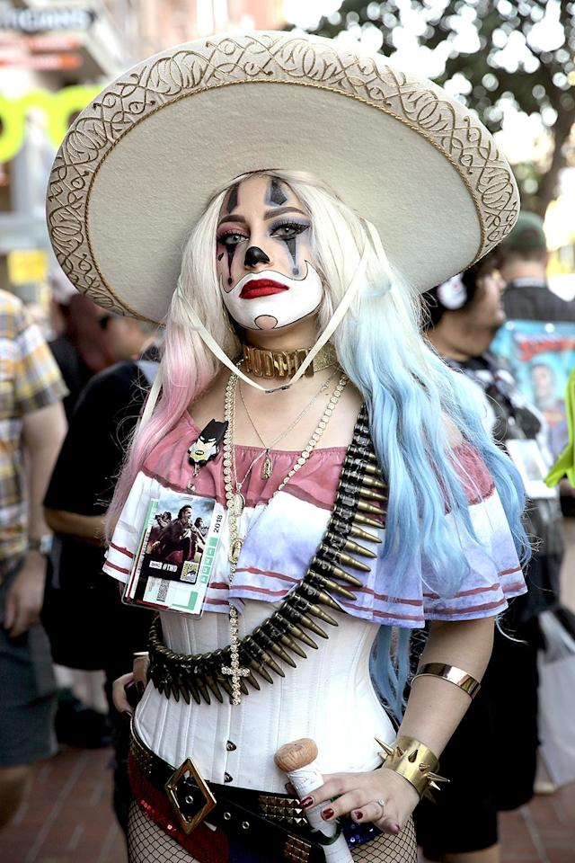 <p>Cosplayer at Comic-Con International on July 19, 2018, in San Diego. (Photo: Quinn P. Smith/Getty Images) </p>