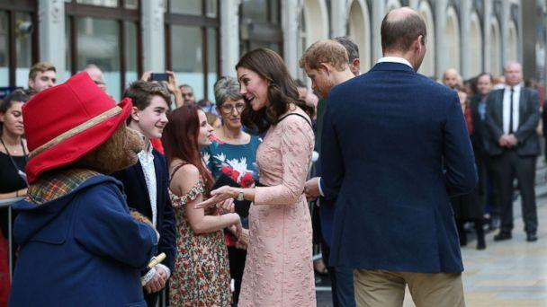 PHOTO: Britain's Catherine, Duchess of Cambridge attend a charities forum event at Paddington train station in London, Oct. 16, 2017. (REX/Shutterstock)