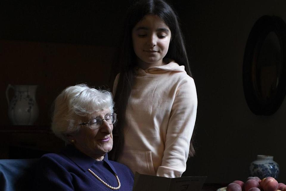 Yvonne Bernstein with her granddaughter Chloe Wright (The Duchess of Cambridge/PA Wire)