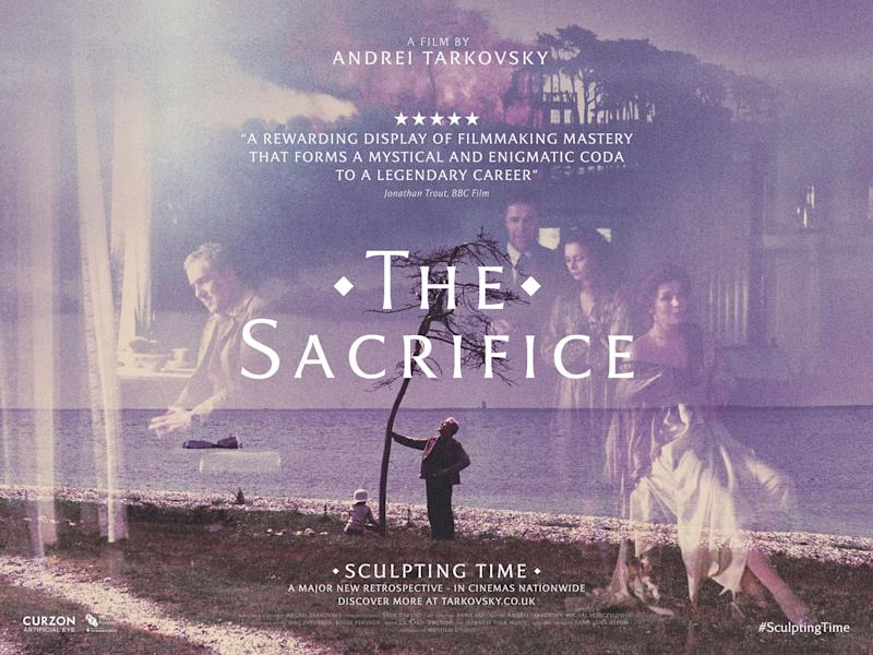 A poster for the rerelease of Tarkovsky's The Sacrifice. (Curzon)