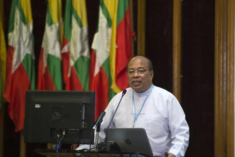 Myanmar's national security advisor Thaung Tun says the country has started shutting down displacement camps in strife-torn Rakhine state, April 11, 2017