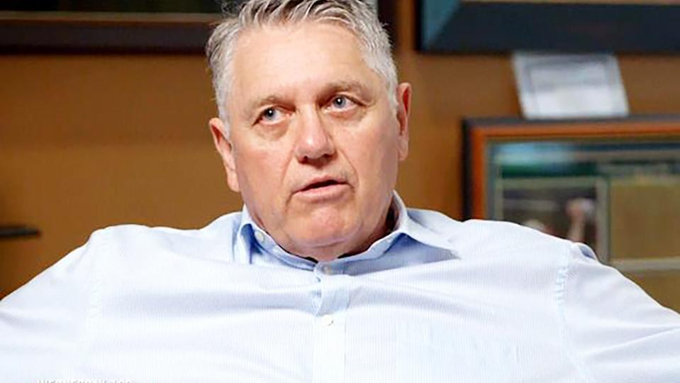 Ray Hadley, pictured here opening up about the tragic death of Peter Jackson.