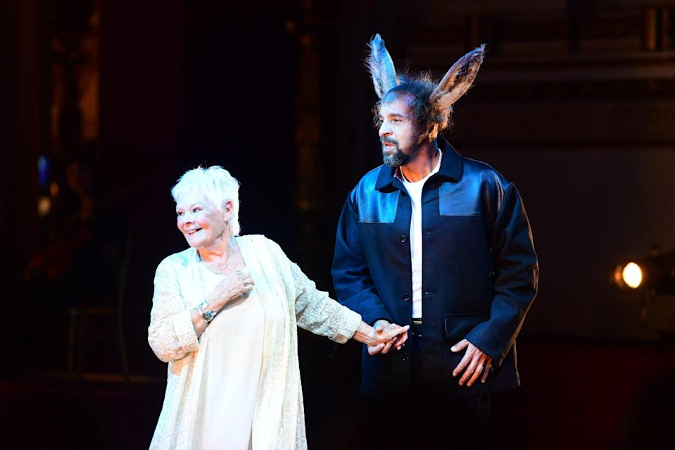 <p>Dame Judi on stage during a performance for Prince Charles's 70th</p>PA