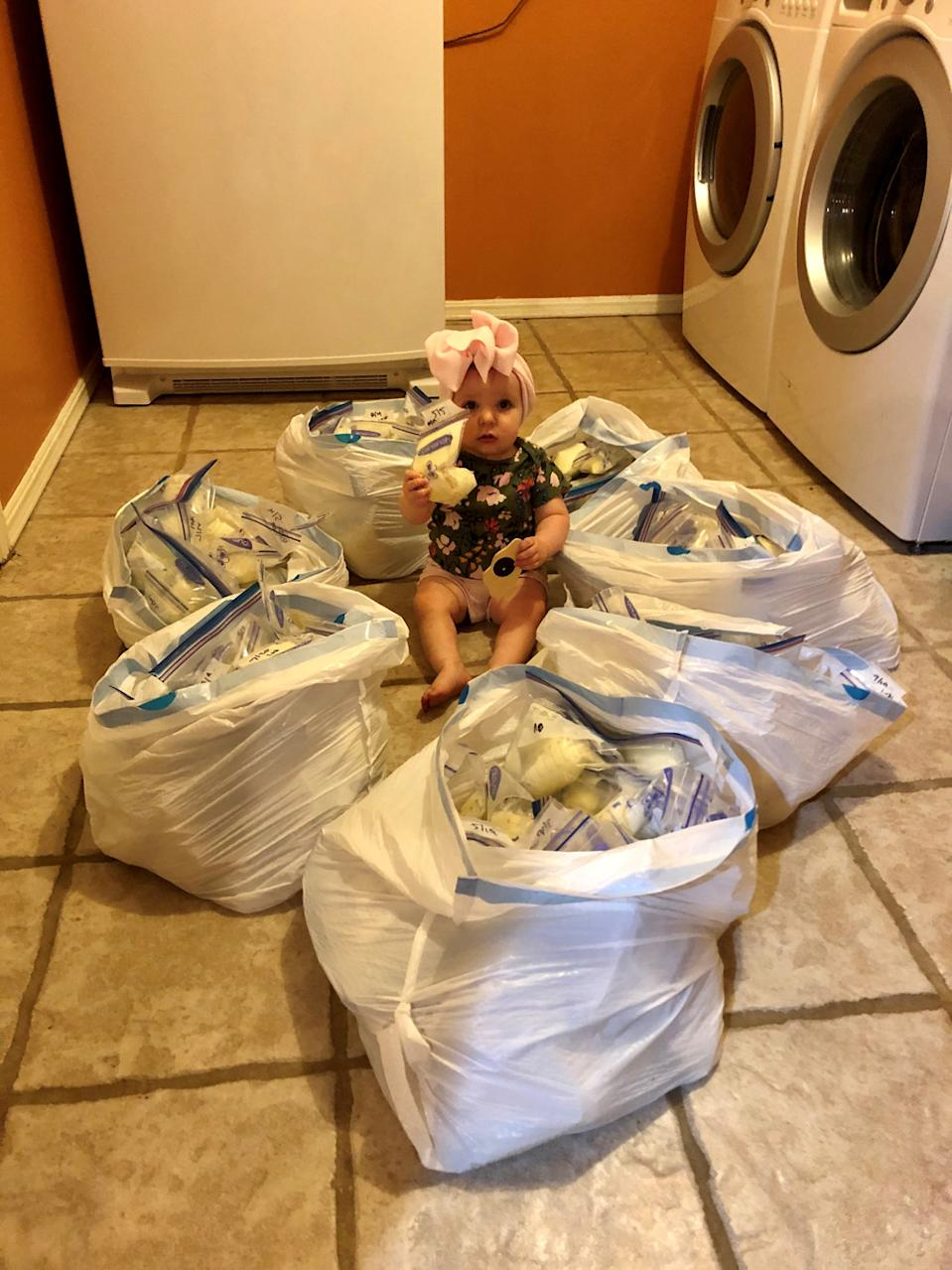 Lynnlee with 65L of breast milk ready to be donated (PA Real Life/Collect)