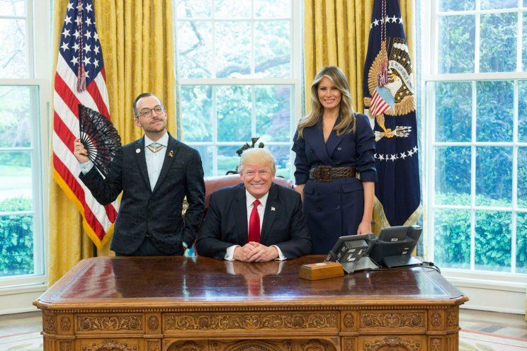 Nikos Giannopoulos with Donald and Melania Trump