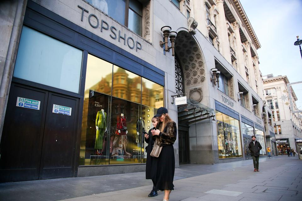 A TopShop store on Regent Street. Photo by Dinendra Haria/SOPA Images/Sipa USA