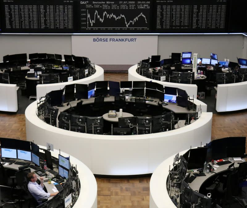 Defensive stocks help Europe close higher as focus turns to U.S. stimulus