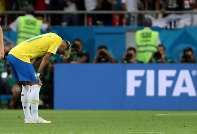 Soccer Football - World Cup - Group E - Brazil vs Switzerland - Rostov Arena, Rostov-on-Don, Russia - June 17, 2018 Brazil's Neymar looks dejected REUTERS/Marko Djurica