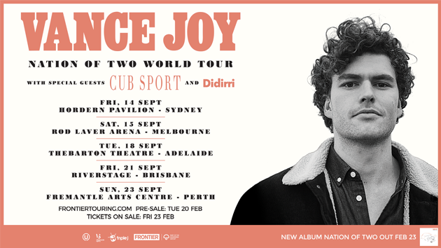 Grab your tickets to Vance Joy's 2018 Australian national tour