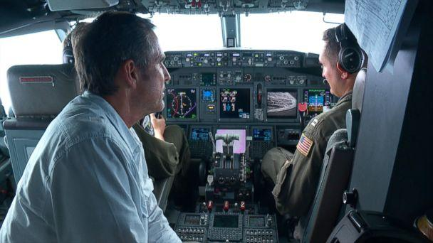 PHOTO: ABC News correspondent Bob Woodruff flew with the U.S. military over the South China Sea on Sep. 6, 2018. (ABC News)