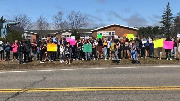 Thornhill said about 100 students took part in the walkout.