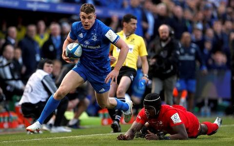 Leinster's Jordan Larmour sprints down the wing - Credit: action images