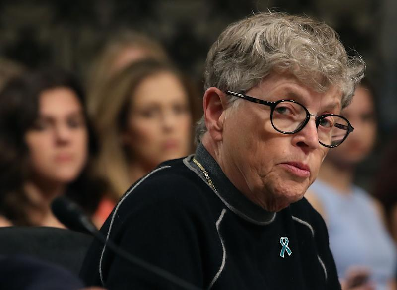 Lou Anna Simon, former president of MSU, will receive a $2.45M retirement payout from the school. (Photo by Mark Wilson/Getty Images)