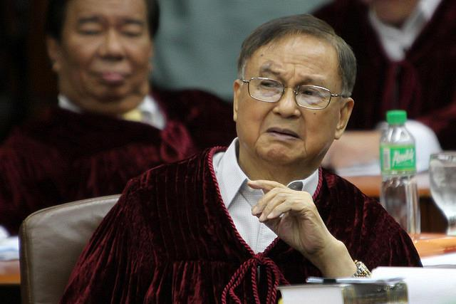 "Verdict: Not guilty. ""This is not justice, political or legal. certainly not the law..it is only naked power, as it was in 1972."" -Senator Joker Arroyo"