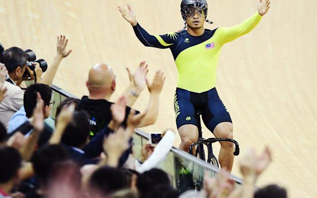 <span>Azizulhasni Awang of Malaysia has been popular with track cycling fans for years thanks to his aggressive and hugely entertaining racing style</span> <span>Credit: Rex Features </span>