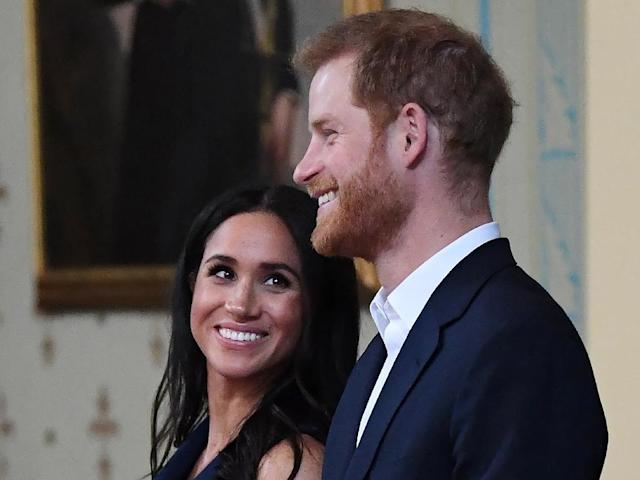 "Six months on from her wedding to Prince Harry, Meghan is faced with a daily barrage of tabloid headlines criticising her courtly manner and warning her against becoming ""Duchess Difficult"" (AFP Photo/JULIAN SMITH)"