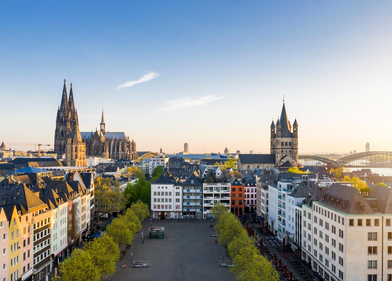 """Cologne is often overshadowed by <a href=""""https://www.cntraveler.com/destinations/berlin?mbid=synd_yahoo_rss"""">Berlin</a> and Munich, but the 2,000-year-old city on the banks of the Rhine River has its devotees for a reason—think High Gothic architecture, a dozen Romanesque churches, annual literary festivals, and the Museum Ludwig, one of the most important collections of modern art in Europe. Kölsch beer, specially brewed here, probably helps, too."""