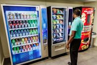 """<p>We've all had an unfortunate experience with a <a href=""""https://www.delish.com/food-news/a50345/hilarious-vending-machine-fails/"""" rel=""""nofollow noopener"""" target=""""_blank"""" data-ylk=""""slk:vending machine"""" class=""""link rapid-noclick-resp"""">vending machine</a> at some point, but a law prohibiting people from hitting a machine that stole their money ensures that things don't get violent in <a href=""""https://blog.lawinfo.com/2012/12/28/weird-laws-true-or-false-edition-15/"""" rel=""""nofollow noopener"""" target=""""_blank"""" data-ylk=""""slk:Derby, KS"""" class=""""link rapid-noclick-resp"""">Derby, KS</a>.</p>"""