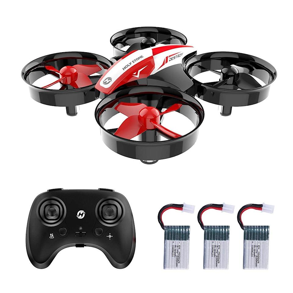 <p>If he's ever been curious about drones, this <span>Holy Stone Mini Drone Nano Quadcopter</span> ($30) is a perfect option for beginners and so fun to use!</p>