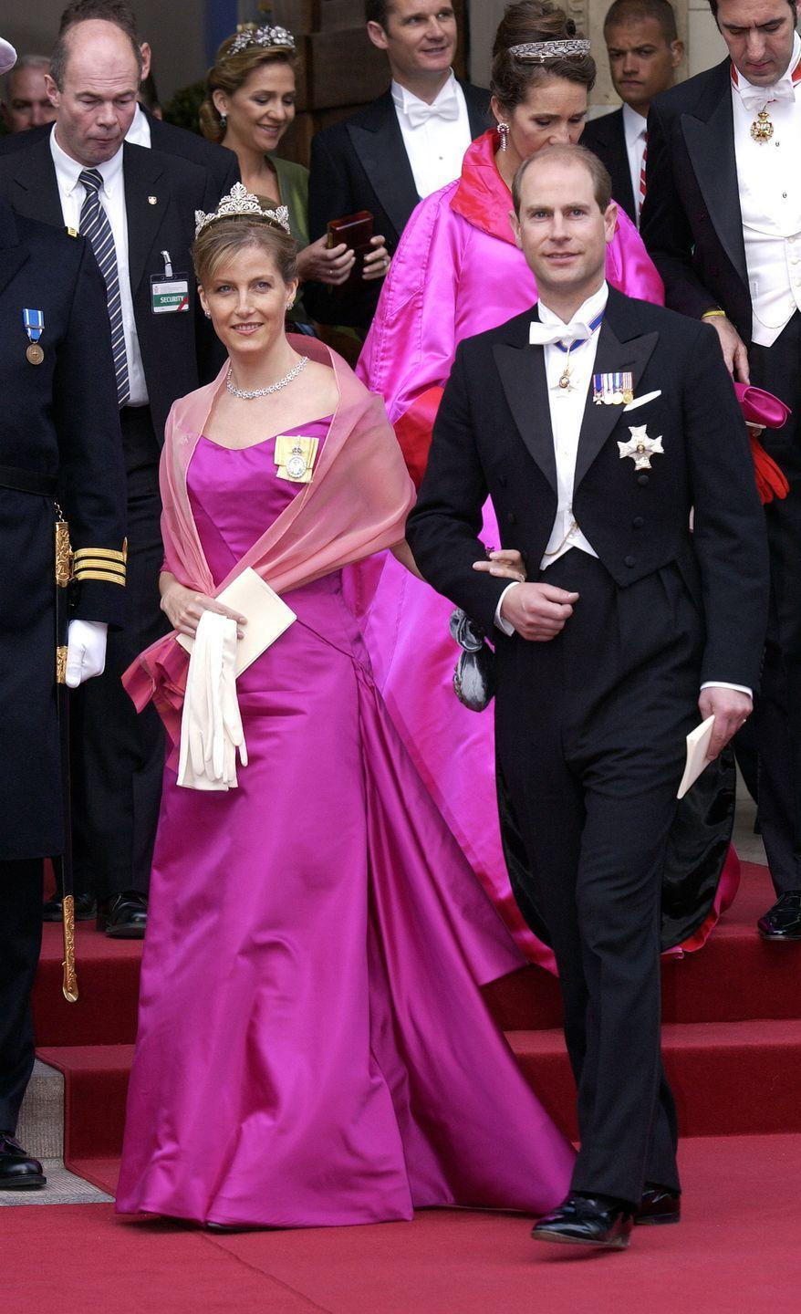 <p>Sophie, Countess Of Wessex, made a big impact with the pink gown she wore to the wedding of Frederik, the crown prince of Denmark, in 2004. </p>