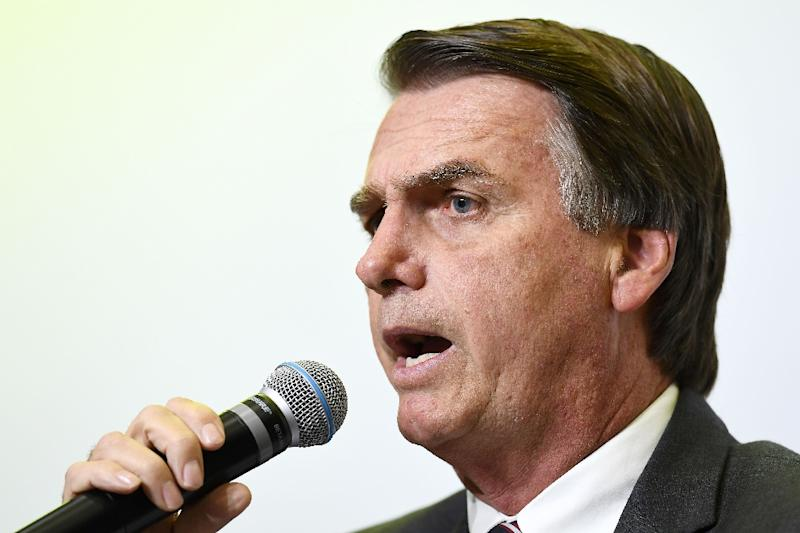 Jair Bolsonaro, a provocative right-wing presidential candidate in Brazil, has crafted a Donald Trump-like appeal (AFP Photo/EVARISTO SA)