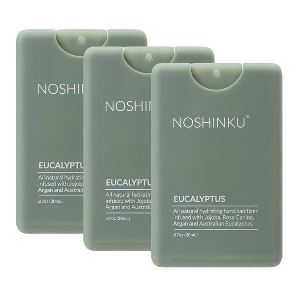 Eucalyptus Pocket Hand Sanitizer 3-pack. Image via Noshinku.