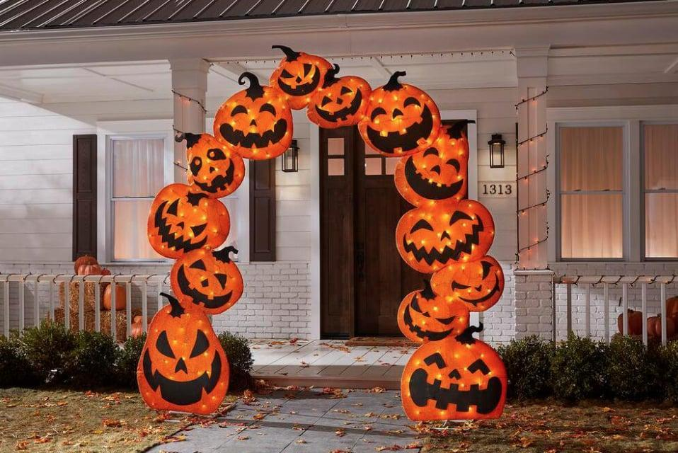 <p>What's not to love about this cute <span>LED Lights Pumpkin Arch</span> ($179)? Made with over 200 LED lights, this item is constructed out of weather-resistant material (and a sturdy metal frame) so you can enjoy it all Fall long.</p>