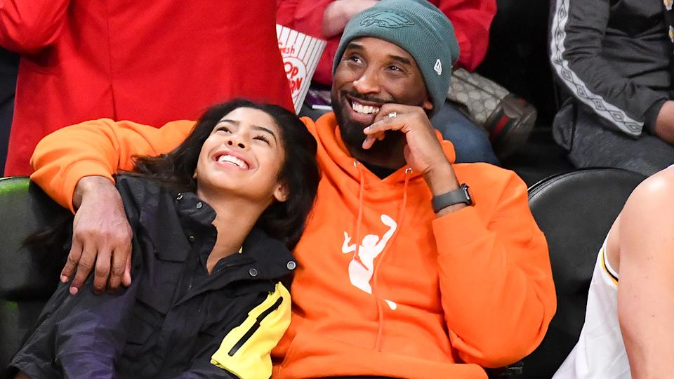Kobe Bryant and daughter Gianna, pictured here at an NBA game in December.