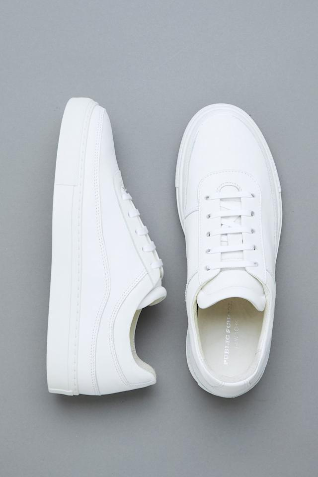 "<p>These versatile <a href=""https://www.popsugar.com/buy/Public-School-Classic-Braeburn-Sneakers-584505?p_name=Public%20School%20Classic%20Braeburn%20Sneakers&retailer=publicschoolnyc.com&pid=584505&price=425&evar1=fab%3Aus&evar9=47571677&evar98=https%3A%2F%2Fwww.popsugar.com%2Ffashion%2Fphoto-gallery%2F47571677%2Fimage%2F47571934%2FPublic-School-Classic-Braeburn-Sneakers&list1=shopping%2Cshoes%2Csneakers%2Csummer%2Csummer%20fashion%2Cfashion%20shopping&prop13=mobile&pdata=1"" rel=""nofollow"" data-shoppable-link=""1"" target=""_blank"" class=""ga-track"" data-ga-category=""Related"" data-ga-label=""https://www.publicschoolnyc.com/womens-classic-braeburn.html?___store=default"" data-ga-action=""In-Line Links"">Public School Classic Braeburn Sneakers</a> ($425) go with everything.</p>"