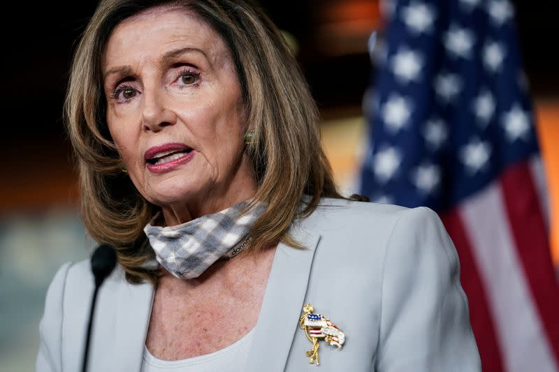 FILE PHOTO: House Speaker Nancy Pelosi Delivers Weekly Press Conference