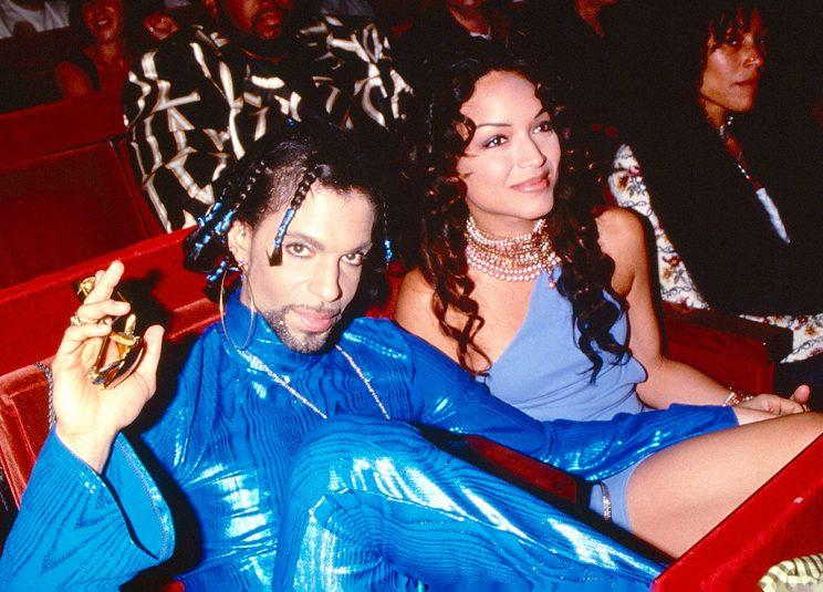 Prince and Mayte Garcia at the 1999 MTV Video Music Awards. (Photo: Kevin Mazur/Getty Images)
